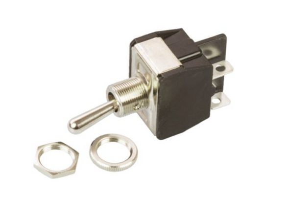 photo 1 of APEM Toggle Switch Y12CP, DPST X & Y Series Panel Mount Latching Switches 10-15A