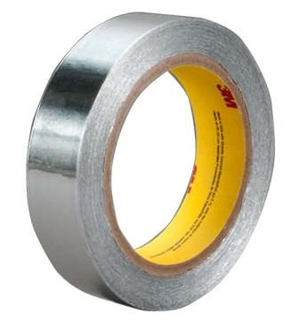 Photo of 3M 431 Conductive Aluminium Tape 0.08mm W.12mm L.55m 431 12MMX55M Acrylic +149°C / -54°C