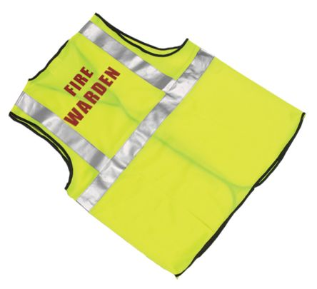 Photo of Unisex Yellow Hi Vis Fire Personnel Vest Waistcoat Safety Jacket S to M