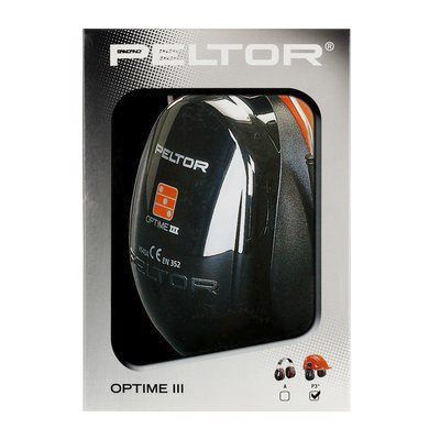 Photo of 3M™ Ear Defenders Peltor™ Optime 34dB Ear Protectors & Helmet Attachment H540PHSV