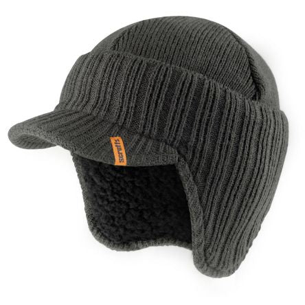 Photo of Scruffs Peaked Knitted Hat Graphite T54305 Work Hat
