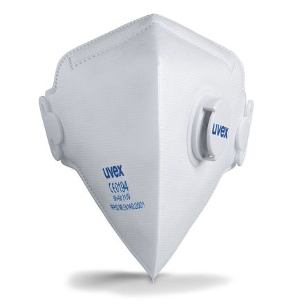 Photo of Uvex Silv-Air Disposable Face Mask FFP1 Valved Respirator Masks 8733110 Box of 15