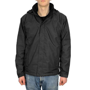 Mens Fleece Lined Jacket Sizes S-XXL Plain Lightweight Jackets Hooded 4 Colours