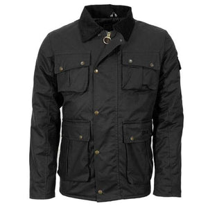 Mens Wax Jacket Antique Style Waxed Cotton Jackets Coat S - XXL Black or Brown