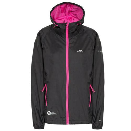 Trespass Qikpac Jacket XS-XXL Ladies Waterproof Hooded Jacket Hiking Walking UK