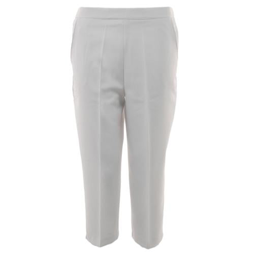 Ladies Cropped Bowls Trousers, White 3/4 Length Quality UK Womans Bowlswear Clot