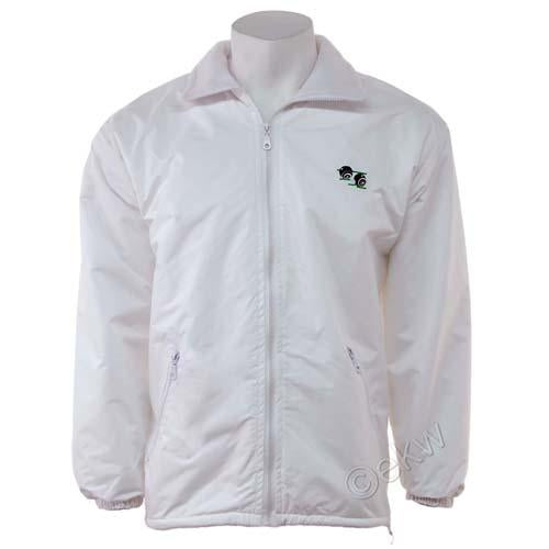 Unisex Bowls Fleece Lined Jacket Sizes S - 5XL, White Plus Size Bowls Wear, UK B