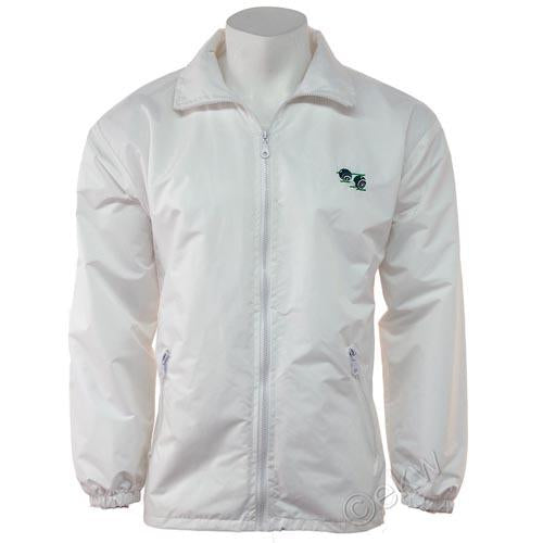Unisex Bowls Mesh Lined Jacket White Sizes S - 5XL, Water Repellent & Windproof