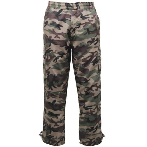 Camouflage Thermal Cargo Trousers Sizes S - 3XL Hunting Fishing Fleece Lined C41
