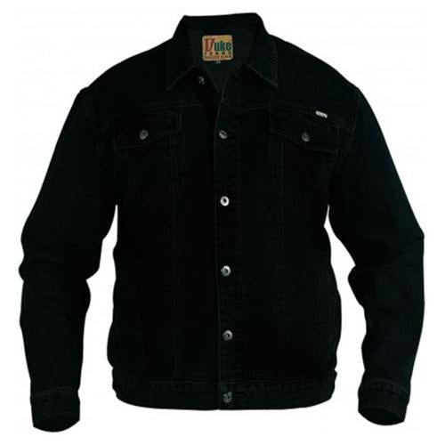 Mens Denim Jacket King Size Duke Trucker Sizes 2XL-6XL Large Jackets Black/Stone