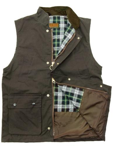 Wax Gilet Mens S- 3XL Waxed Waistcoat Shooting Hunting Bodywarmer Quilted Jacket