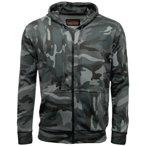Warm Camouflage Zip Hoodie Hooded Jumpers S - 5XL Night, Urban, Woodland GAME