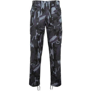 Mens Camouflage Cargo Trousers, Khaki, Midnight, Urban Camo Clothes