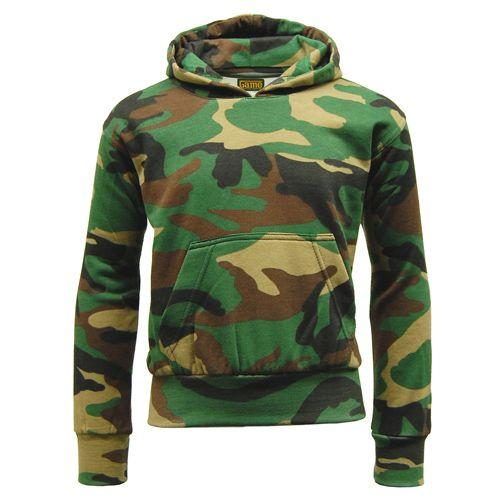 Childrens Woodland Camouflage Tracksuit 7 - 13 Years, Camo Hoodie Joggers
