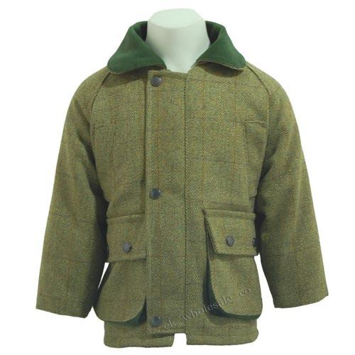 Kids Tweed Jacket, Waterproof Shooting, Hunting Coats Jackets UK