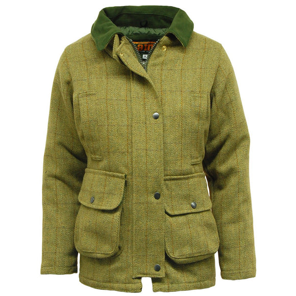 Ladies Tweed Jacket, Waterproof Hunting, Shooting Jackets Sizes 8 - 22 UK