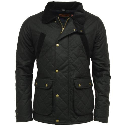 Oxford Quilted Waxed Cotton Jacket S - XXL, Wax Mens Hunting Shooting Coats UK
