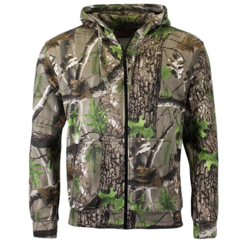 Camouflage Zip Hoody Size S - 5 XL, UK Camo Hoodie Top - TREK102
