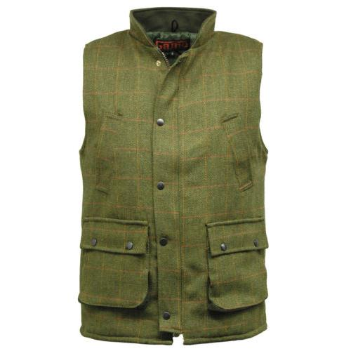 Game Tweed Waistcoat Gilet Sizes XS - 3XL, Shooting, Hunting, Country Clothing