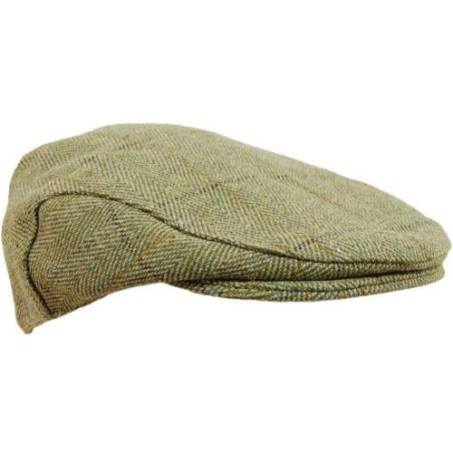 Childrens Tweed Flat Cap, Bute or Fife, Sizes 50cm - 54cm, Shooting, Hunting Clothing