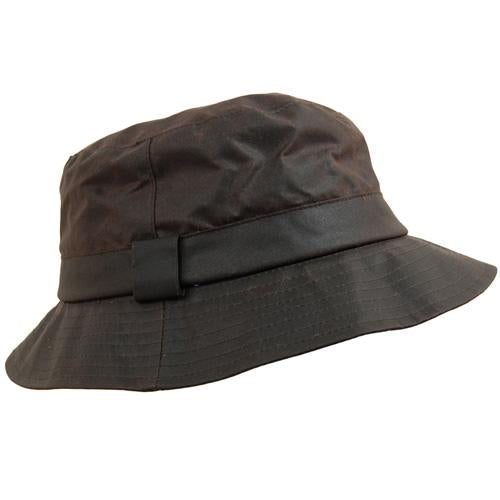 Waxed Cotton Hat, Bucket Rainhats, Waterproof Fishing Shooting Hunting Hats UK