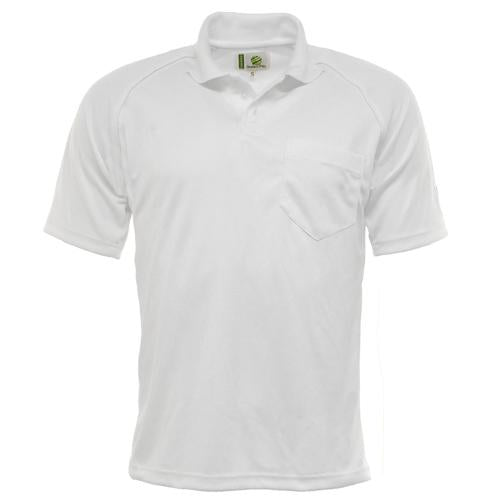 Mens Green Play Mens Sports Shirt Sizes S-2XL White Shirts Breathable Fabric UK