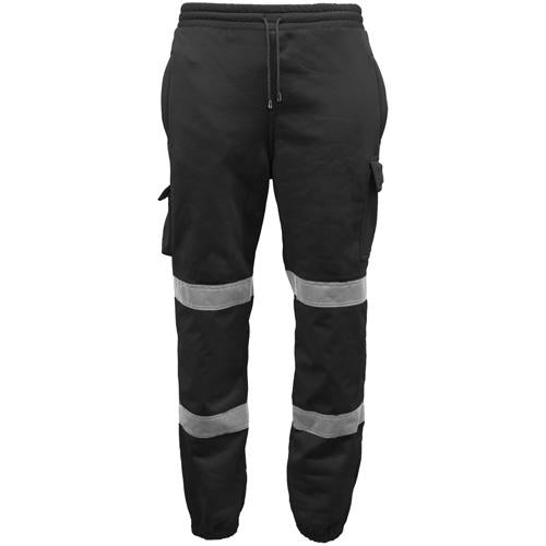 Hi Vis Joggers Sizes S - 3XL, Black, Orange, Yellow, Cargo Pockets Standsafe HV0