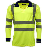Hi Vis Polo Shirt Sizes S - 3XL, Long Sleeve Polo Shirts, Standsafe HV005