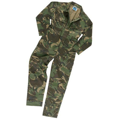 Childrens Camouflage Overalls, Kids Camo Boiler Suit, Paint Ball Hunting Clothes