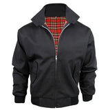 Boys Harrington Jacket Kids Classic Canvas Jackets UK Made Brushed Tartan Lining