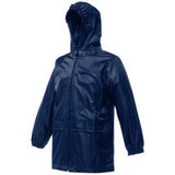 Boys Girls Waterproof Jacket Regatta Stormbreak Hooded Coats 2-12 Years Navy