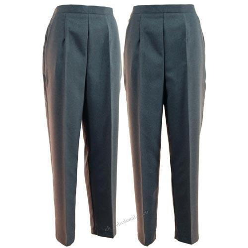 Ladies Bowls Trousers Grey, Quality UK Womans Bowlswear Clothing All Sizes 10 -