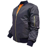 Ladies Bomber Jacket Pilot Jackets Military Army Quilted Biker Coat Sizes S-L UK