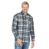 Mens Flannel Check Work Shirt Casual Shirts 6 Colours Sizes S-XXL Workwear UK