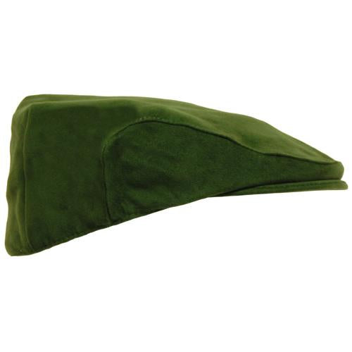 Mens Moleskin Flat Cap Hat Olive Green Farms Hats Sizes S-XL Hunting Shooting UK