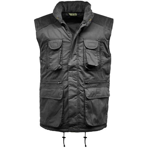 Mens Gilet Multi Pocket Padded Body Warmer Gilets Sizes L-2XL Sleeveless Jacket