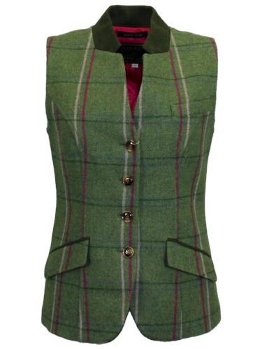 Ladies Margate Tweed Waistcoat, Womans Shooting Hunting Clothes UK