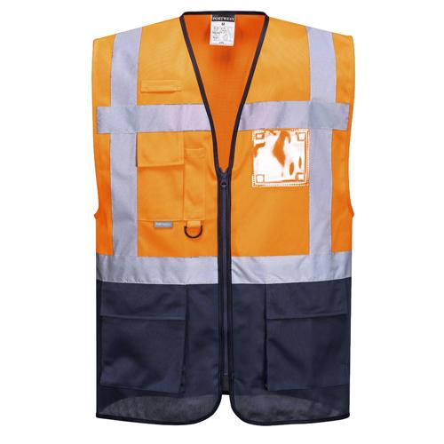 Hi Vis Vest with Pockets Sizes S - 5XL, Executive Hi Vis Body Warmer C476