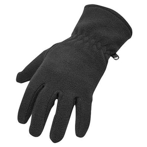 Portwest GL11 Fleece Gloves With Palm Grip Black, Navy PPE Workwear