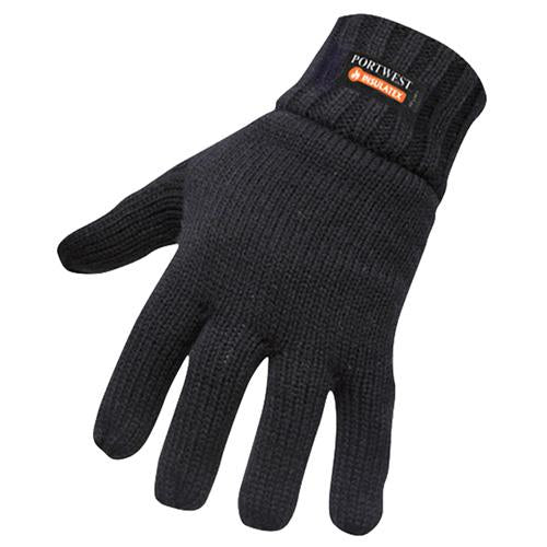 Portwest GL13 Insulatex Lined Gloves Navy,Black, PPE Workwear