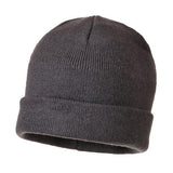Mens Beanie Hat Knitted Portwest Warm Insulatex Thermal Beanies Hats 6 Colours