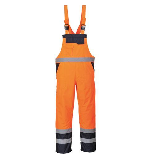 Hi Vis Bib & Brace Overalls Sizes S - 2XL, Portwest S488 UK Workwear