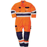 Hi Vis Overalls Sizes S - 2XL, Boiler Suit Coveralls, Portwest TX55 Overall