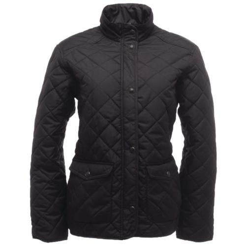 Ladies Diamond Quilted Jacket, Womans Regatta Tarah Jackets Black or Blue TRA442
