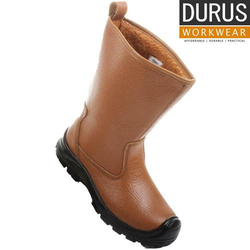 Mes Durus Rigger Boot Steel Toe Cap Fur Lined Size UK 6-12 Leather Builder Boots