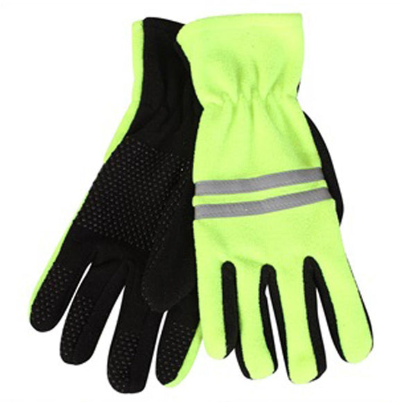 HI Vis Fleece Work Gloves, Proclimate Textured Grip Palm Work Gloves