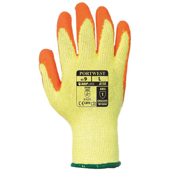 Portwest A150 Fortis Grip Latex Gloves S - XXL (12 Pack) PPE Work Gloves