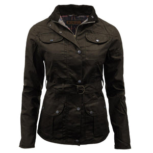 Ladies Antique Waxed Jackets Sizes 8 - 18, Womans Shooting Hunting Jackets
