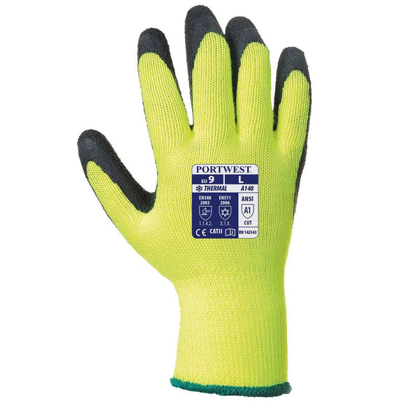 Portwest A140 Thermal Grip Latex Gloves M-2XL (12 Pack) PPE Work Gloves