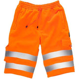 Hi Vis Shorts, Safety Jogger, Jogging Shorts, Yellow / Orange HV030